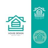 Casa moderna Logo Design Template Flat Simple Imagen de archivo libre de regalías