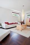 Casa moderna, salone fotografie stock