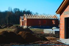 Casa moderna sob a construção Foto de Stock