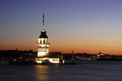 Casa-moinho novo da torre-luz Fotos de Stock Royalty Free