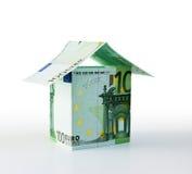 Casa molto piccola dall'euro Immagine Stock Libera da Diritti