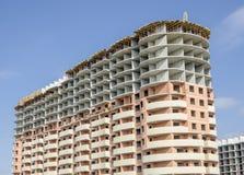 Casa monolítica residencial nova do tijolo Imagem de Stock Royalty Free