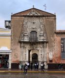 Casa Montejo. This is a picture of Casa Montejo or House of Montejo located on the South side of Grande Plaza in. Merida, Mexico on the Yucatán Peninsula.  The Stock Image