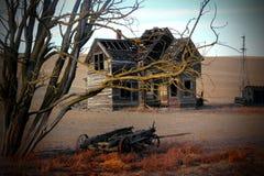 Casa morta di frontiera di sbirciata Immagini Stock