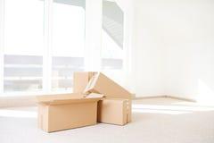 Casa movente foto de stock