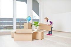 Casa movente imagem de stock
