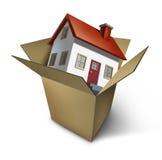 Casa movente ilustração stock