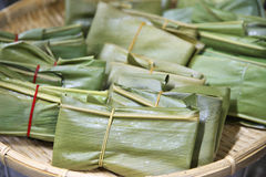 Casa Muchi. Rice cakes wrapped in Alpinia zerumbet leaf traditional Okinawan Royalty Free Stock Photo