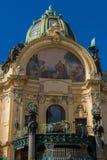 Casa municipal em Praga Foto de Stock