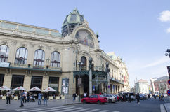 Casa municipal en Praga Imagen de archivo libre de regalías