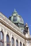 Casa municipal, escultura, fachada, Praga, República Checa Foto de Stock
