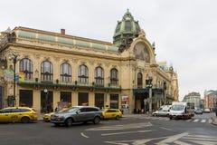 Casa municipal (Smetana Salão) Fotos de Stock Royalty Free