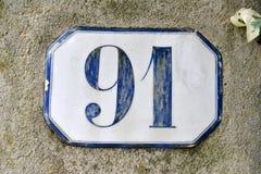 Casa número noventa y uno de la porcelana Fotos de archivo libres de regalías