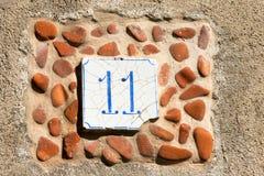 Casa número once - Liguria Italia Fotografía de archivo libre de regalías