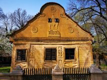 Casa na área de Banat no museu da vila, Bucareste imagem de stock royalty free