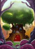 Casa na árvore Fotografia de Stock Royalty Free