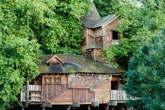 A casa na árvore em jardins de Alnwick Fotografia de Stock Royalty Free