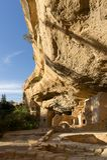 Casa na árvore Spruce sob um penhasco, Mesa Verde NP imagem de stock royalty free