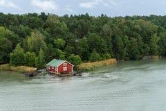 Casa na costa Fotografia de Stock Royalty Free