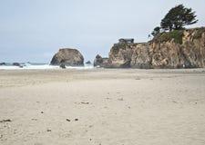 Casa na costa de Mendocino, Califórnia Imagem de Stock
