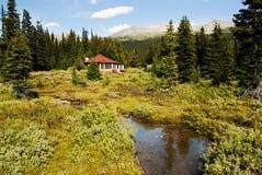 Casa na costa do lago Foto de Stock