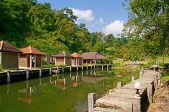Casa na floresta Fotos de Stock Royalty Free