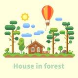 Casa na floresta Imagens de Stock