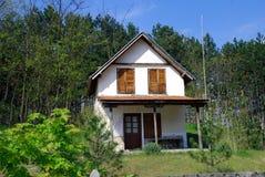 Casa na floresta do pinho Fotos de Stock Royalty Free