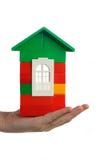 Casa na mão Imagens de Stock Royalty Free