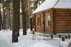 Casa na madeira Fotografia de Stock