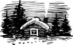 Casa na madeira Foto de Stock Royalty Free