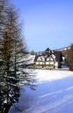 Casa na montanha Fotos de Stock Royalty Free