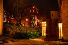 Casa na noite Fotos de Stock Royalty Free