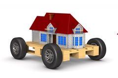 Casa na pálete Fundo branco Ilustração 3d isolada ilustração stock