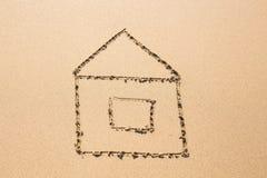 Casa na praia Imagem de Stock