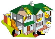 Casa na seção ilustração stock