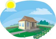 Casa na vila Imagem de Stock Royalty Free