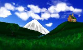 Casa nas montanhas Imagem de Stock