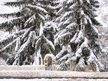 Casa nascosta da neve Immagini Stock Libere da Diritti