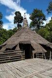 Casa nativa de Bidayuh en Sarawak Borneo Foto de archivo libre de regalías