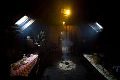 Casa negra Foto de archivo libre de regalías