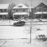 Casa nevado Fotografia de Stock Royalty Free