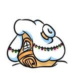 Casa nevado do Natal Imagens de Stock