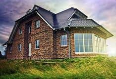 Casa no campo Imagens de Stock