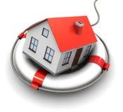 Casa no círculo do salvamento Imagem de Stock