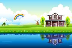 Casa no céu Fotografia de Stock