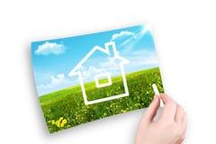 A casa no estepe Imagem de Stock Royalty Free