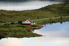 Casa no fjord de Borg Imagem de Stock