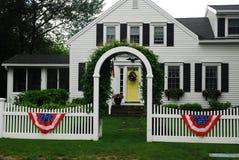 Casa no Fouth de julho Fotografia de Stock