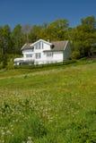 Casa no gramado Fotos de Stock